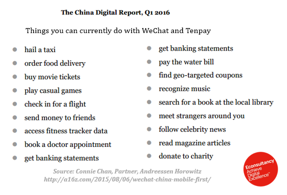 things you can do with wechat and tenpay
