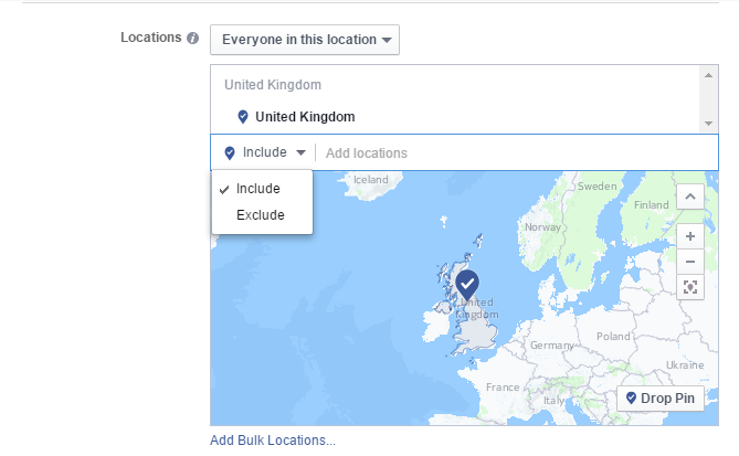 instagram ads audience location