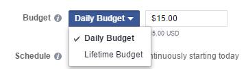 instagram ads budget ad