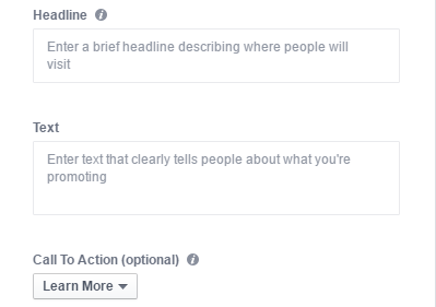 instagram ads headline text call to action